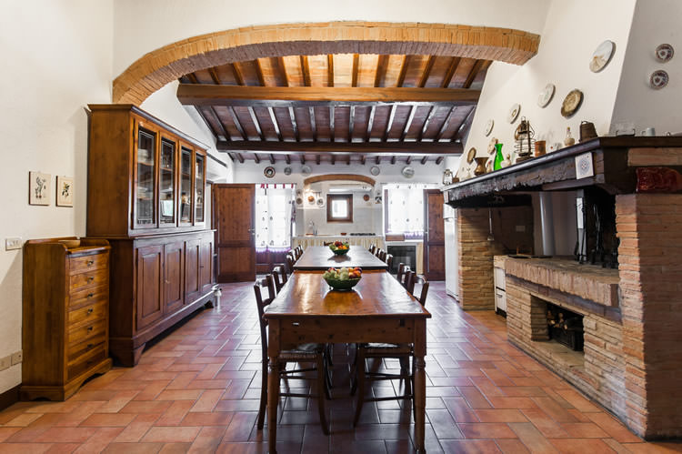 B&b room in farmhouse in San Gimignano kitchen avaulable